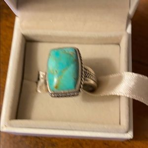 🌸🌿Barse Turquoise & silver Ring size 8🌸🌿
